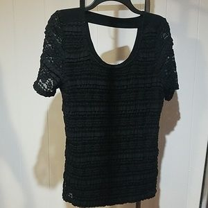 AGB XL black lace designed top